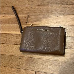 Michael Kors Bags - Brown Leather Michael Kors Wristlet